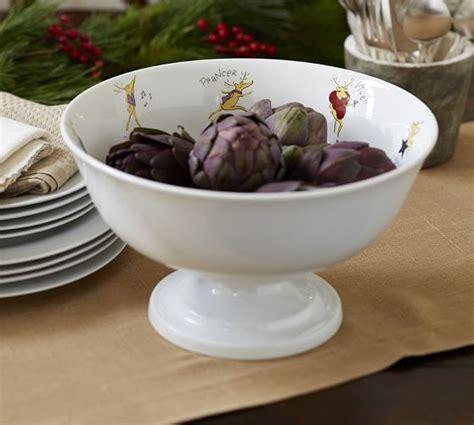 Serve It Bowl santa s reindeer footed serve bowl pottery barn