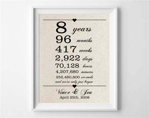 25  best ideas about 8th Anniversary on Pinterest   Gifts for anniversary, Romantic gifts for