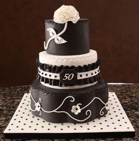 black and white birthday cake black and white 50th birthday cake