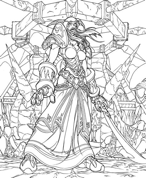 world of warcraft clipart coloring page pencil and in
