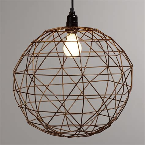 Bronze Round Twisted Wire Pendant Shade World Market Wire Light Pendant