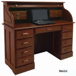 Roll Desk by 51 3 8 Quot W Solid Oak Roll Top Laptop Notebook Tablet Desk