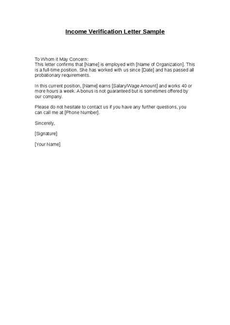 gallery of proof employment letter sample word best free home