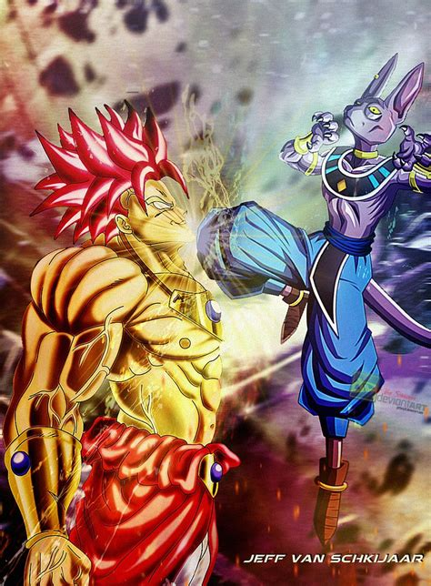 broly saiyan god vs bills by jeffery10