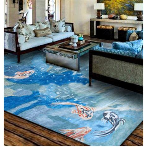 Fish Area Rug by Carpio Fish Wool And Silk Area Rug Rug Shop And More
