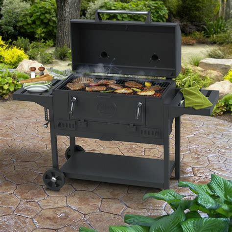 Charcaol Grill by Smoke Hollow 36 Quot Deluxe Charcoal Bbq Grill New Ebay