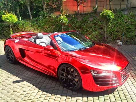 Chrome Red 600HP Audi R8 V10 Spyder Durban