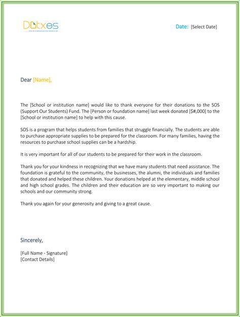 Thank You Letter Template For Monetary Donation Church Thank You Letter For Monetary Donation Docoments