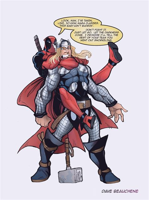 Komik Digital Marvel Iron deadpool vs thor by davejorel on deviantart