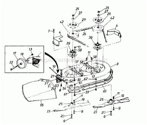 yardman mower belt diagram mtd lawn tractor parts diagram wiring diagram and fuse