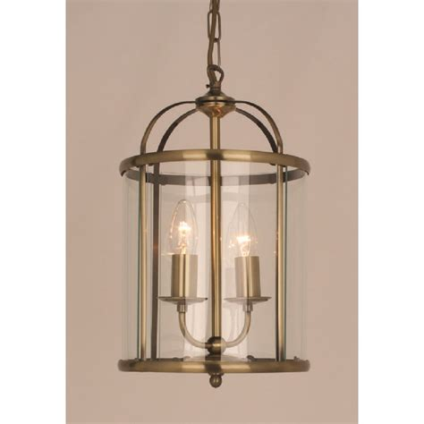 Lantern Light by Small Traditional Lantern In Antique Brass With 2