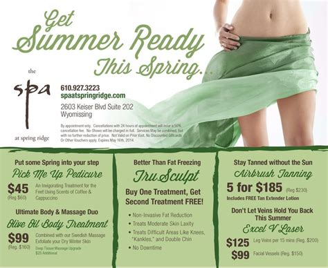 spring spa specials 53 best spa specials images on pinterest beauty spa