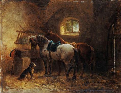Pferde Im Stall Reinhold Braun Als Kunstdruck Oder