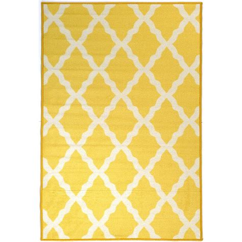 yellow moroccan rug ottomanson pink collection contemporary moroccan trellis design yellow 2 ft 8 in x 4 ft 1 in