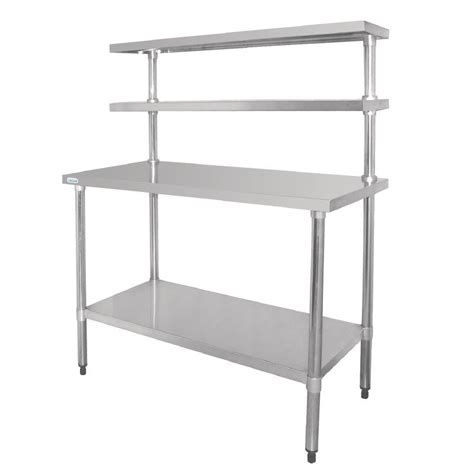 kitchen table with shelves vogue stainless steel table shelves bench kitchen