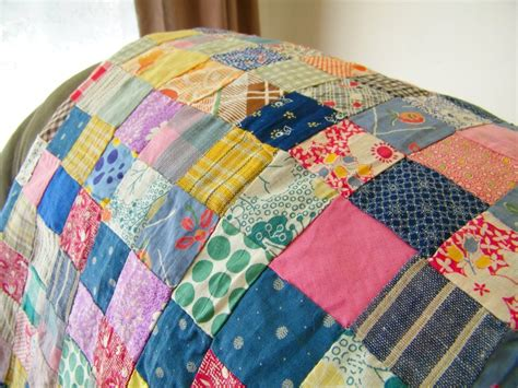 Vintage Patchwork Bedding - vintage patchwork feedsack quilt top unfinished flickr