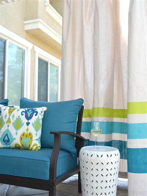 drop cloth curtains for patio 18 ways to add privacy to a deck or patio hgtv