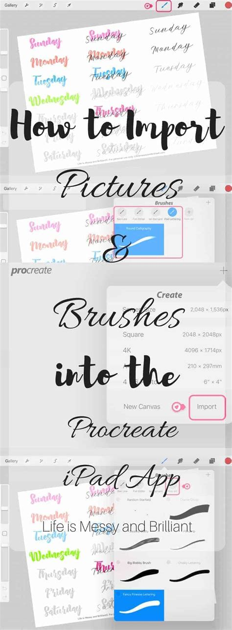 How To Import Pictures And Brushes Into Procreate Ipad App Free Procreate Templates