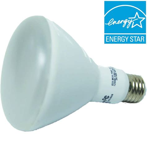 ecosmart75w equivalent br40 led light bulb 4 99 home depot