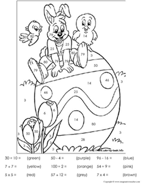 easter coloring pages by numbers free easter color by number by imaginative teacher tpt