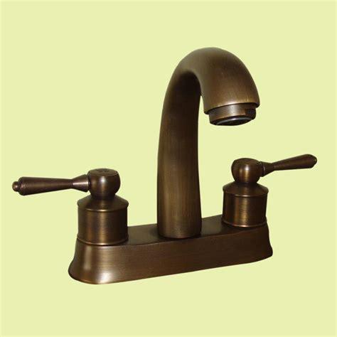 faucet antique brass classic bathroom sink centerset 2 lever