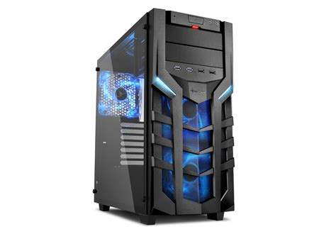 Casing Sharkoon Dg7000 Blue Atx new arrrival sharkoon dg7000 g tempered glass model