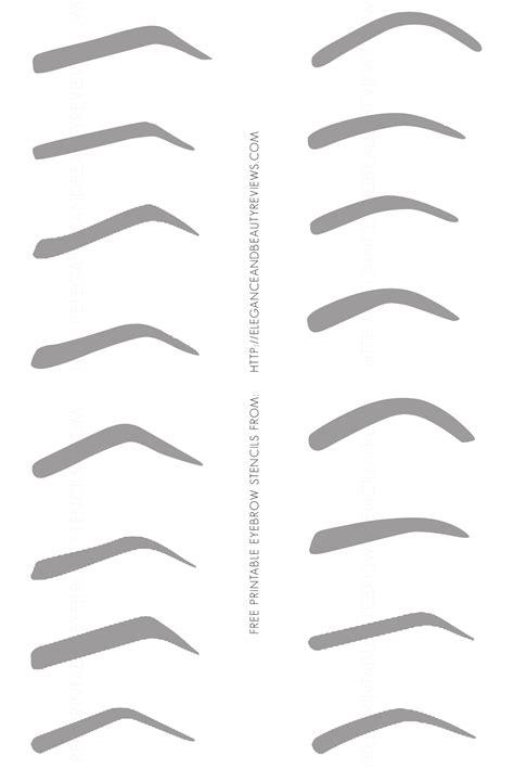 printable eyebrow stencils free printable eyebrow stencils