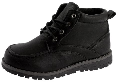 boys leather boots boys faux leather ankle boots warm winter casual school