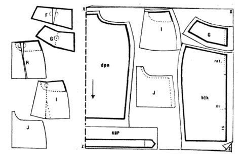 arisanti cara membuat pola rok kantung levis