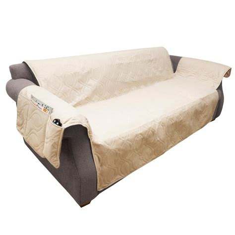 non slip sofa covers petmaker non slip tan waterproof sofa slipcover m320124