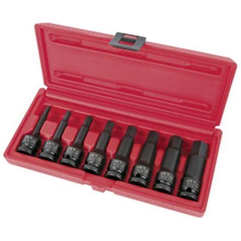 Socket Set 8 Pc 1 2 Dr 4208mr10c King Tony jet 610331 8 pc 1 2 quot dr sae hex bit impact socket set