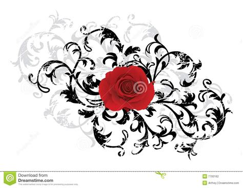 Blakc Reddish Flower S M L 44398 black floral background with stock photography