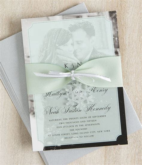 diy winter wedding invitations the ribbon wedding and