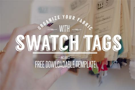 How I Organize My Fabric Stash Free Downloadable Stash Tags Colette Blog Fabric Swatch Book Template