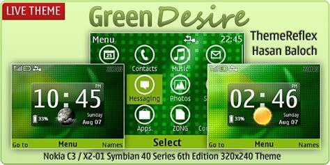 nokia c3 themes green green desire live theme for nokia c3 x2 01 themereflex
