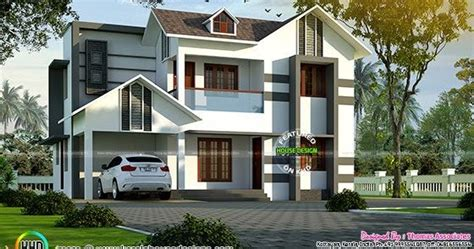 1850 square floor 4 bhk modern home design 4 bhk villa in 1850 sq ft kerala home design and floor plans
