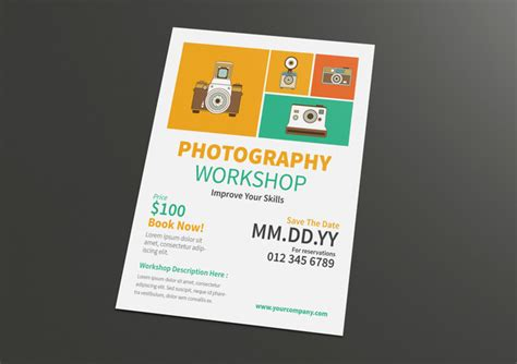 templates for workshop flyers photography workshop flyer for only 10 designs net