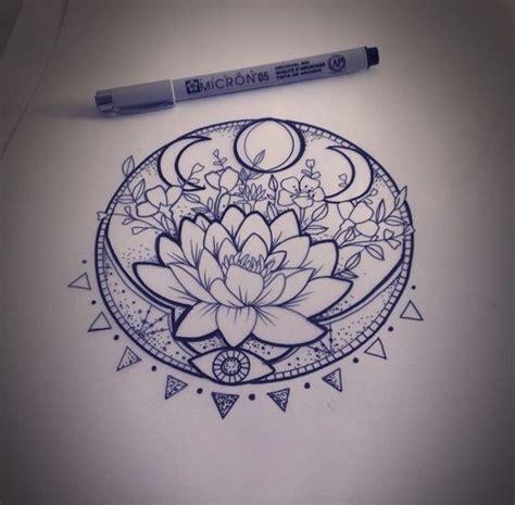 mandala tattoo e piercing lunar phase lotus lunar phase mandala and lotus