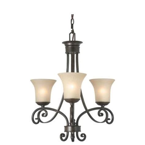 Black 3 Light Chandelier Essex 3 Light Aged Black Chandelier 14708 The Home Depot