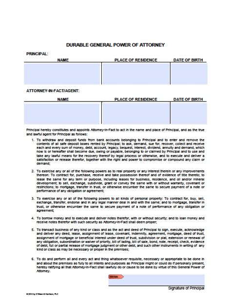 sle of durable power of attorney arizona real estate purchase contract pdf real estate contract template lease purchase