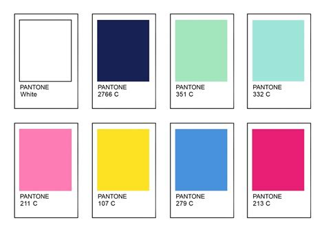 pantone color palette mint green pantone
