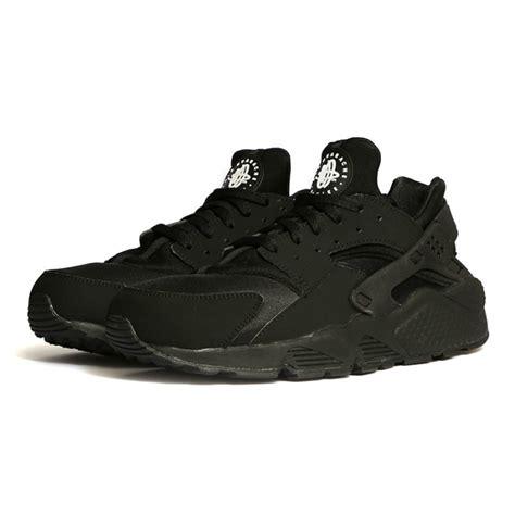 Nike Huarache Black by Nike Air Huarache Black The Sole Supplier