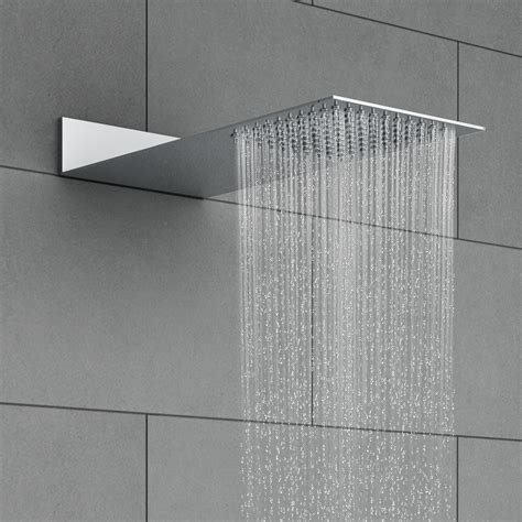 Square Shower Heads by Milan Square Flat Fixed Shower Now At Plumbing Co Uk