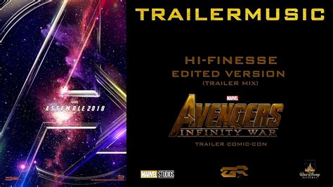 infinity war trailer lyrics infinity war trailer comic con edited version