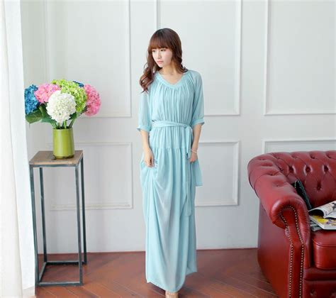 feminine feel special chiffon solid color v neck half