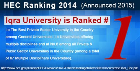 Hec Mba Ranking by Iqra Where Your Future Begins