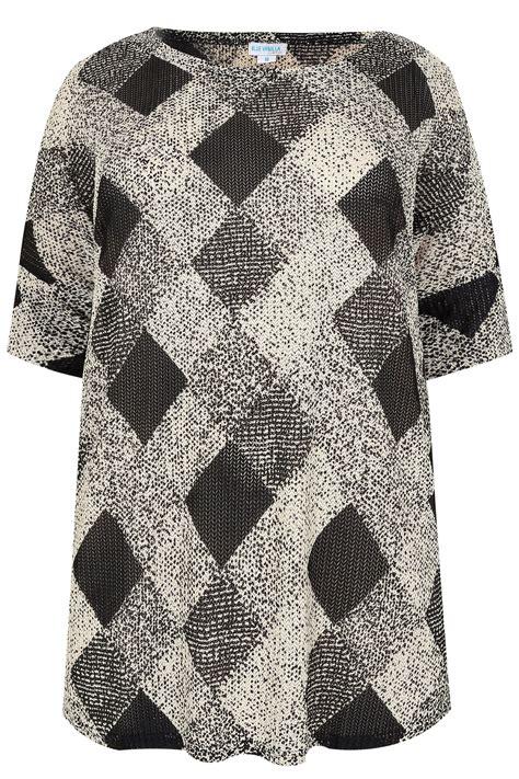 diamond pattern on clothes blue vanilla curve black white diamond pattern knitted