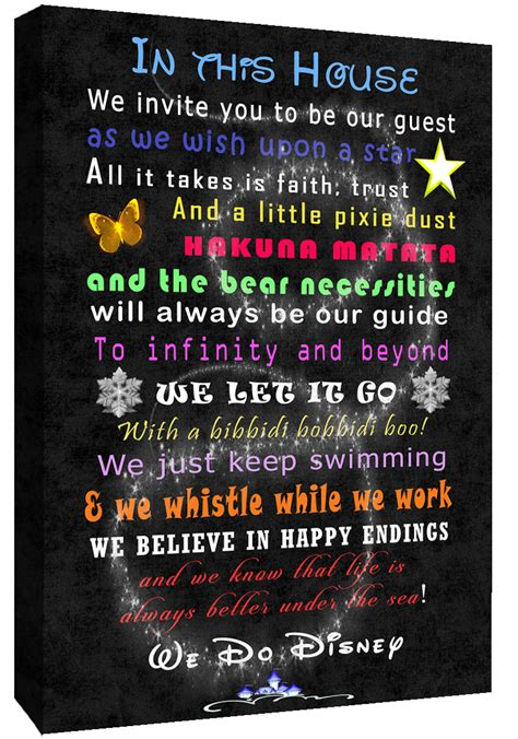 Disney We Disney we do disney guest quote on canvas wall picture print