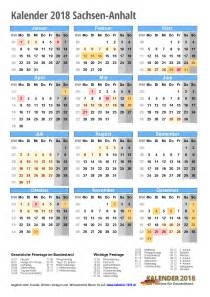 Kalender 2018 Ferien Feiertage Sachsen Anhalt Kalender 2018 Sachsen Anhalt Zum Ausdrucken 171 Kalender 2018