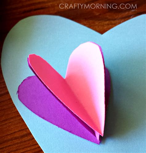 3d heart hot air balloon valentine card crafty morning